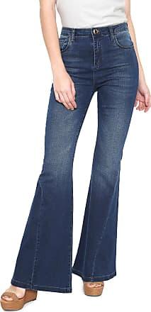 Oh, Boy! Calça Jeans OH BOY Flare Joplin Recorte Azul