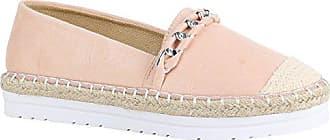 1edcc2ce924749 Stiefelparadies Modische Damen Schuhe Bast Slipper Glitzer Muster  Espadrilles 156002 Rosa Ketten 38 Flandell
