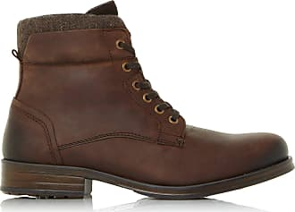 Dune London Dune Mens Caper Lace-Up Worker Boots Size UK 8 Brown Flat Heel Lace Up Boots