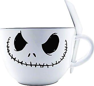 Disney Silver Buffalo NB111936 Nightmare Before Christmas Jack Face Ceramic Soup Mug with Spoon, 24-Ounces