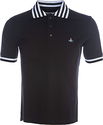 Vivienne Westwood Stripe Collar Polo Shirt in Black S