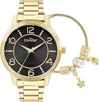 Condor Kit Relógio Condor Feminino Dourado Com Pulseira CO2035KRH/K4P
