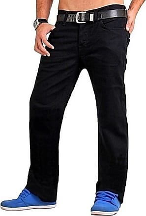 7 For All Mankind Mens Casual/Basic Black Denim Jeans, Straight Leg, Standard/Regular Fit, Width 30,31 inches, Length 32,34 inches - Black - W30