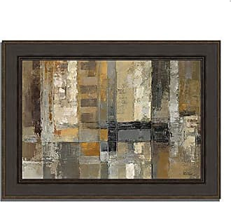 Tangletown Fine Art One Way Street Framed Art Gray/Taupe/Yellow
