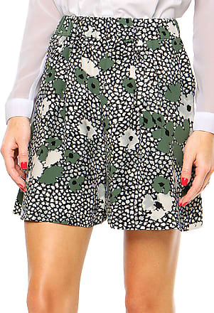 Finery Short Finery London Foxlow Shadow Floral Print Preto/Branco