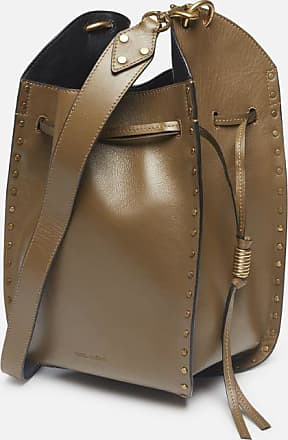 Isabel Marant Studded leather bucket bag
