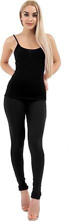 Momo & Ayat Fashions Ladies Soft Comfortable Full Length Cotton Leggings UK Size 8-26 (Black, UK 8 (EUR 36))