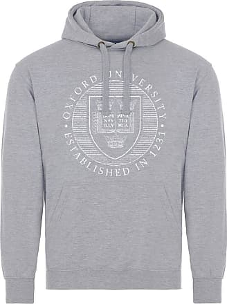 Oxford University Official Distressed Crest Hoodie - Sport Grey - Medium