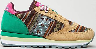 Reposi Calzature Saucony - Sneakers verde beige dettagli rosa