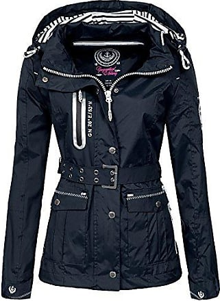 25472b22a0 Geographical Norway Damen Übergangsjacke Bisous abnehmbare Kapuze navy XL