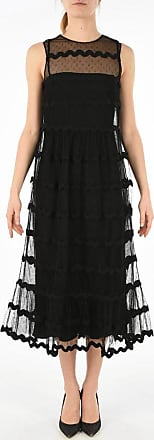 Valentino RED lace a-line dress size 42