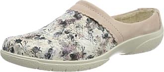 Hotter Womens Devotion Open Back Slippers, Pink (Powder Pink-Floral 396), 4 (37 EU)