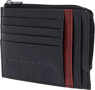 U.S.Polo Association U.S. POLO ASSN. Wellborn Zipped Credit Card Holder Black/Red