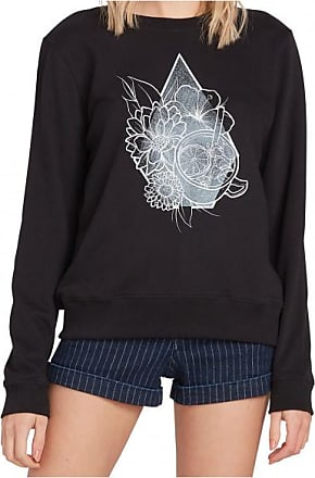 Volcom Womens Sound Check Fleece Pullover Donna | grigio