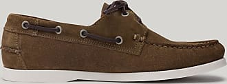 Hackett Mens Guersey Suede Deck Shoes | Size 41 | Olive Green