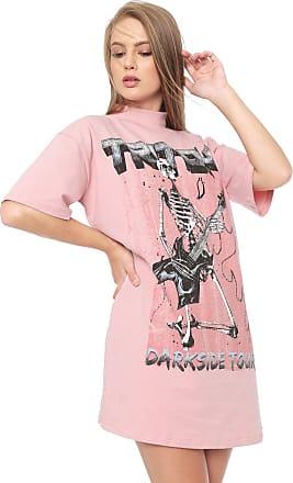 Triton Vestido Triton Curto Skull Rosa