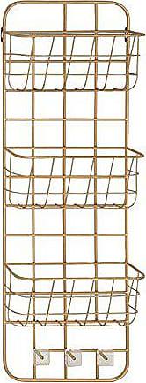 UMA Enterprises Inc. Deco 79 45851 Basket Wall Rack, Gold