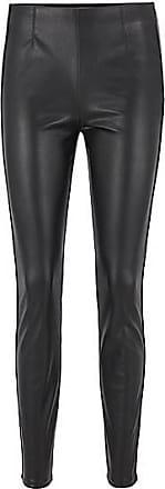 BOSS Skinny-Fit Leggings aus Kunstleder mit Paspeln
