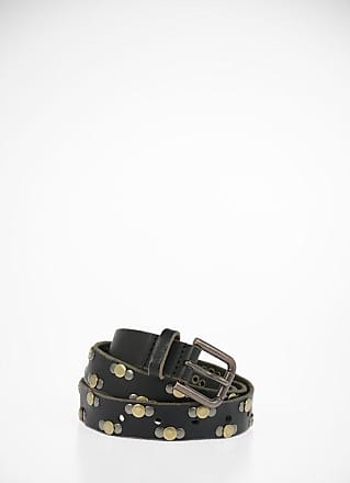 Dolce & Gabbana Cintura in Pelle con Borchie 20mm taglia 95