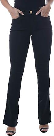 Eventual Calça Jeans Flare Mid Rise Mulher, 38, Azul