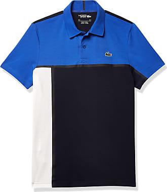 Lacoste Mens 2020 DH4776 Ultra Dry Pique Ribbed Collar Crocodile Polo Shirt
