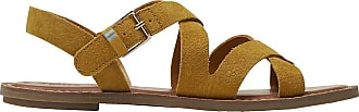Toms Sicily Sandals amber gold suede