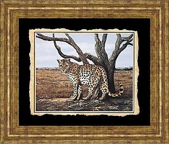 Classy Art Cheetah Framed Wall Art - 26W x 22H in. - 206