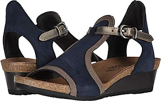 Naot Fiona (Navy Velvet Nubuck/Shiitake Nubuck/Pewter Leather) Womens Sandals
