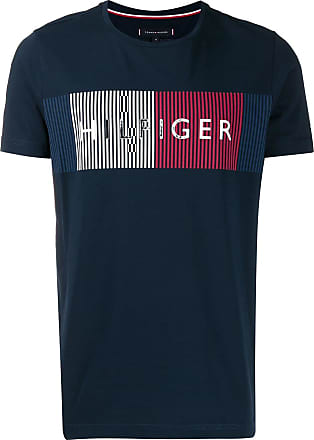 Tommy Hilfiger Camiseta com logo bordado - Azul