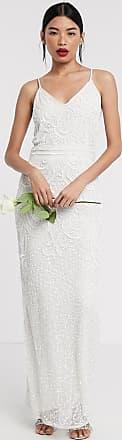 Beauut Bridal - Lange jurk met versiering in ivoorwit