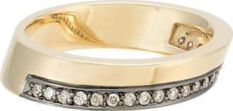 Jack Vartanian Anel Deco com diamantes - Dourado