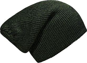 DonDon winter hat for Women and Men Slouch beanie warm classical design Green - Black