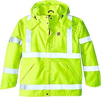 Carhartt Work in Progress Mens Big & Tall High Visibility Class 3 Waterproof Jacket,Brite Lime,Large Tall