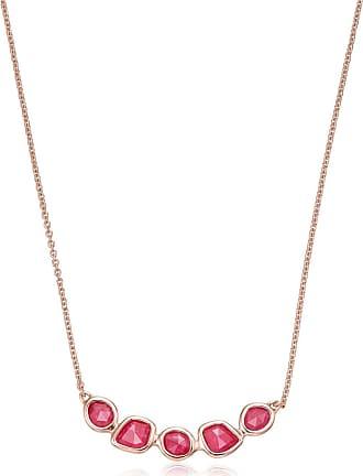 Monica Vinader Siren Mini Nugget Cluster Pink Quartz necklace - GOLD