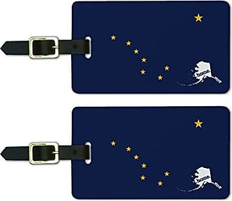 Graphics & More Graphics & More Alaska Ak Home State Luggage Suitcase Id Tags-Flag, White