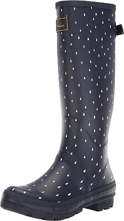 Joules Womens Welly Print Wellington Rain Boots, Navy Raindrop, 3 UK (36 EU)