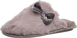 668c49ec0 Totes Womens Ladies Textured Fur Mule Slippers Open Back