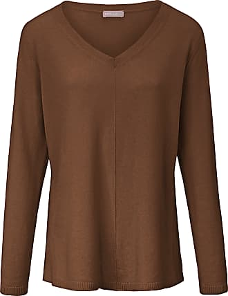 include V-neck jumper in pure cashmere include brown