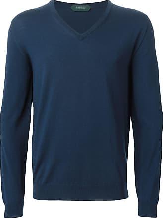 Zanone V neck sweater - Azul