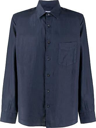 Aspesi Camisa de linho com colarinho pontiagudo - Azul