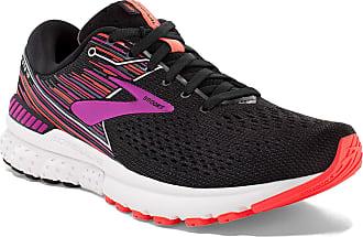 Brooks Womens Adrenaline Gts 19 Running Shoes, Black (Black/Purple/Coral 080), 3.5 UK