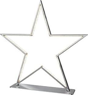 Nordium Large Chrome Star Table Lamp - Silver