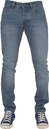 Enzo New Mens Stretch Skinny Fit Biker Blue Denim Jeans 30 W X 32L Blue Wash