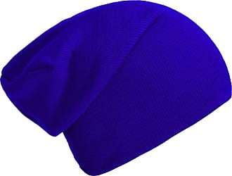 DonDon winter hat slouch beanie warm classical design modern and soft blue
