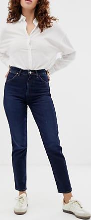 Wrangler Indigood - Jeans dritti vita alta iconici-Blu