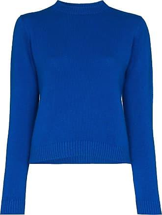 The Elder Statesman Suéter cropped de cashmere - Azul