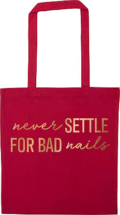 Flox Creative Red Tote Bag Rose Gold Never Settle for Bad Nails