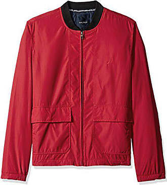 Nautica Mens Classic Fit Embroidered Levy Bomber Jacket