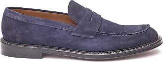 Doucal's Suede Penny bar Loafers, 42 Blue
