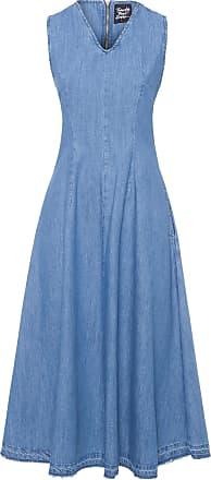 TWENTY FOUR SEVEN Vestido Godê - Azul
